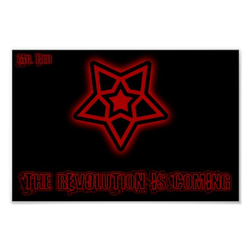 Sr. Red - la revolución… Posters