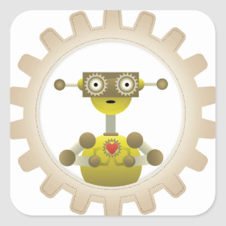 Sr. Robot con el pegatina del corazón del