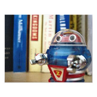 """Sr. Robot Invitación 4.25"""" X 5.5"""""""
