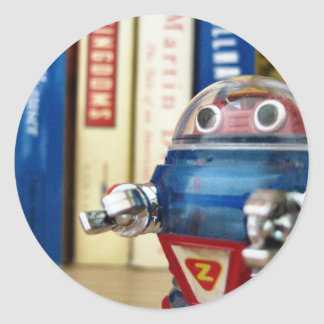 Sr. Robot Pegatina Redonda