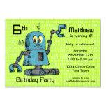 Sr. Robot Personalized Birthday Invitation Invitación 12,7 X 17,8 Cm