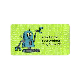 Sr. Robot Personalized Label Etiquetas De Dirección