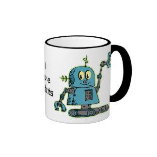 Sr. Robot Personalized Mug Taza De Dos Colores