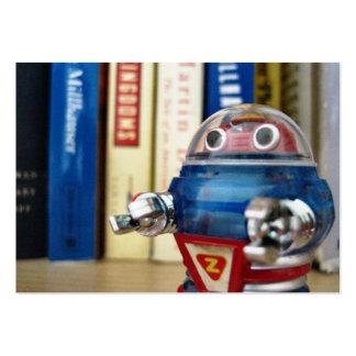Sr. Robot Profile Cards Tarjetas De Visita Grandes