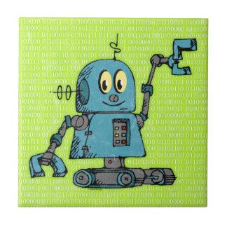 Sr. Robot Tile Azulejo Cuadrado Pequeño