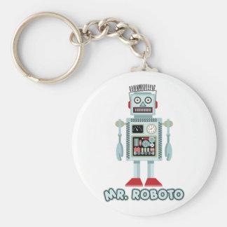 Sr. Roboto Llavero Redondo Tipo Pin