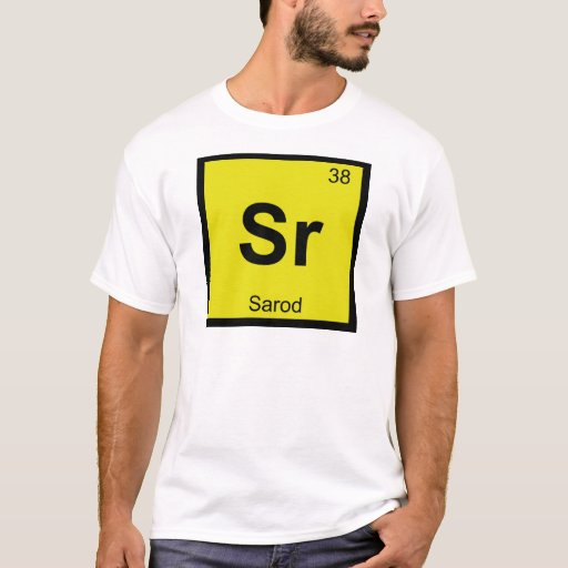 Sr - Sarod Music Chemistry Periodic Table Symbol T-Shirt