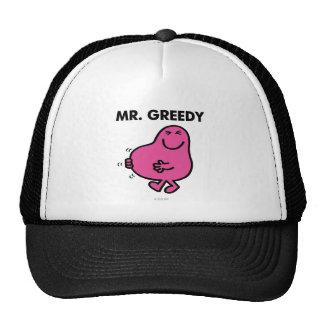 Sr. satisfecho Greedy Gorros Bordados