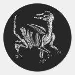 Sr. Segnosaurus Pegatina Redonda
