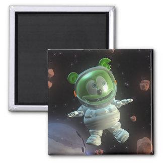 Sr. señor Gummibär Astronaut Magnet Imán Cuadrado