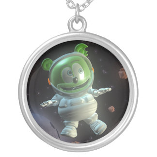 Sr. señor Gummibär Astronaut Necklace Colgante Redondo