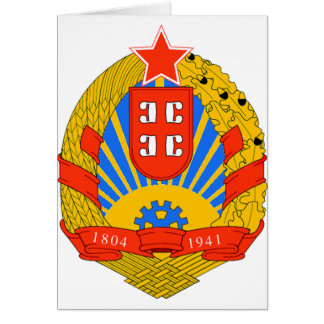 SR Serbia coat of arms Card