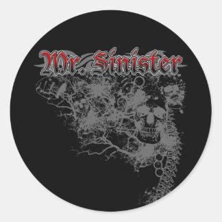 Sr. Sinister Sticker Pegatinas Redondas