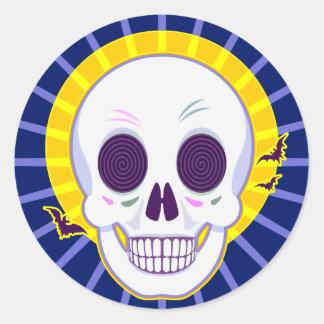 Sr. Skull Etiquetas Redondas