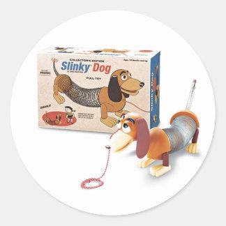 Sr. Slinky Stickers Etiqueta Redonda