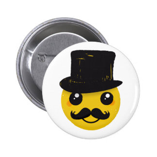 Sr. Smiley Mustache Pins
