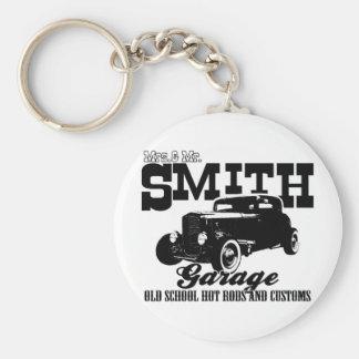 Sr. Smith Hot-Rod Garage de Mrs.& Llavero Redondo Tipo Pin