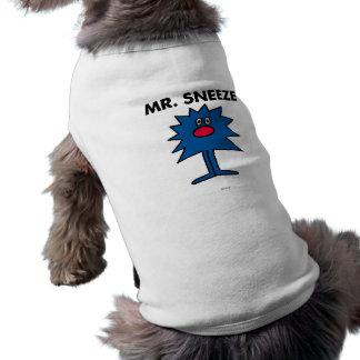 Sr. Sneeze el | Dentado-Afiló el cuerpo Playera Sin Mangas Para Perro
