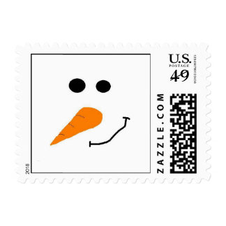 Sr. Snow Face Postage Sellos