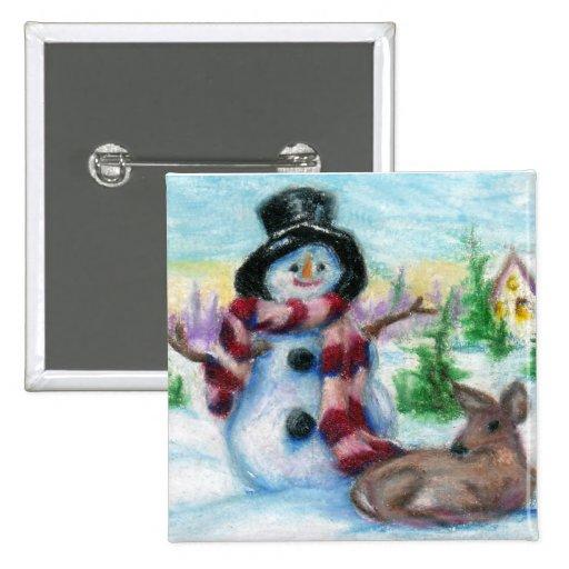 Sr. Snowman Button Pins