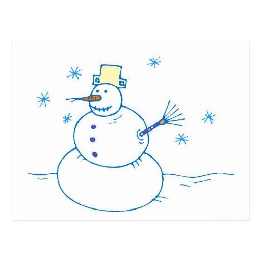 Sr. Snowman Postcard Tarjeta Postal