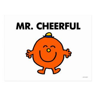 Sr. sonriente Cheerful Postal