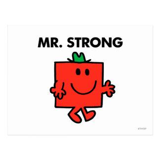 Sr. Strong Waving Hello Tarjetas Postales