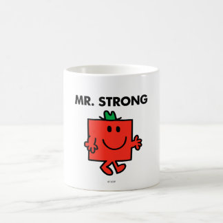 Sr. Strong Waving Hello Taza Básica Blanca