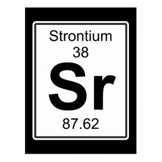 Sr - Strontium Postcard