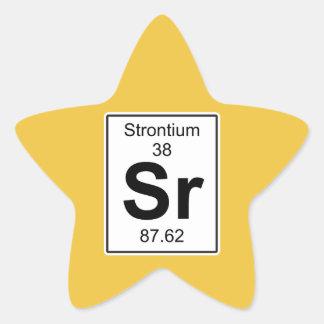 Sr - Strontium Star Sticker