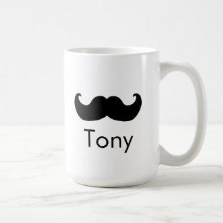 Sr. taza del bigote del nombre personal