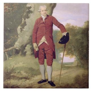 Sr. Thrale, c.1770-80 (aceite en lona) Azulejo Cuadrado Grande
