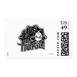 Sr. Tickle diversión negra y blanca del | Sello