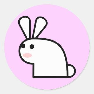Sr. White Wabbit Sticker Pegatina