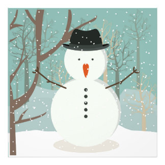 Sr. Winter Snowman Fotografía