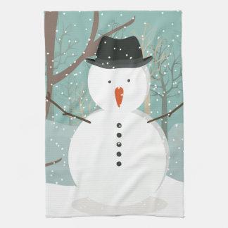 Sr. Winter Snowman Toalla De Cocina