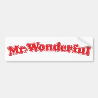Sr. Wonderful Etiqueta De Parachoque