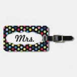 Sr. y la señora equipaje marcan - el suyo con etiq etiquetas de equipaje