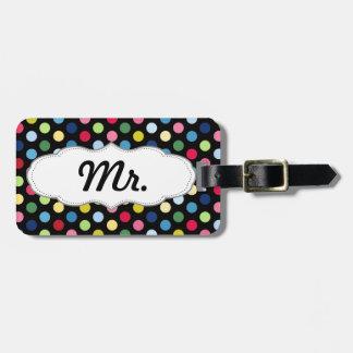 Sr. y la señora equipaje marcan - el suyo - lunare etiqueta para maleta