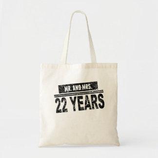 Sr. Y señora 22 años Bolsa Tela Barata