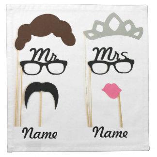 Sr. y señora (añada su nombre) servilletas