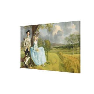 Sr. y señora Andrews, c.1748-9 Lona Estirada Galerias