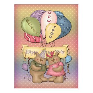 Sr. y señora Bear - Feliz Año Nuevo Tarjetas Postales