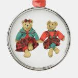Sr. y señora Bear Premium Round Ornament Ornamente De Reyes