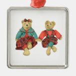 Sr. y señora Bear Premium Square Ornament Ornamento Para Reyes Magos