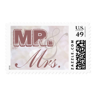 Sr. y señora Bokeh Stamp Sello
