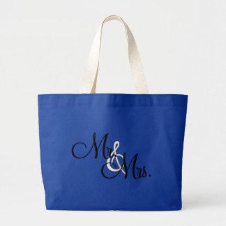 Sr. y señora bolsa tela grande