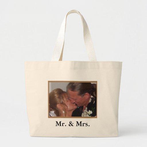 Sr. y señora bolsas lienzo