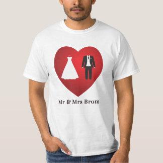 Sr. y señora Brom Wedding Marriage T-Shirt Poleras