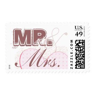 Sr. y señora Cafe Latte Stamp Sello
